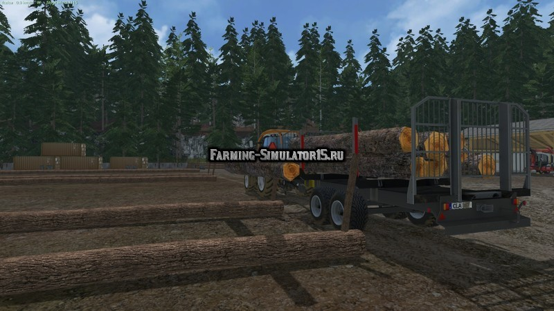 Мод прицеп Brantner Timber Autoload v 1.3 Farming Simulator 15