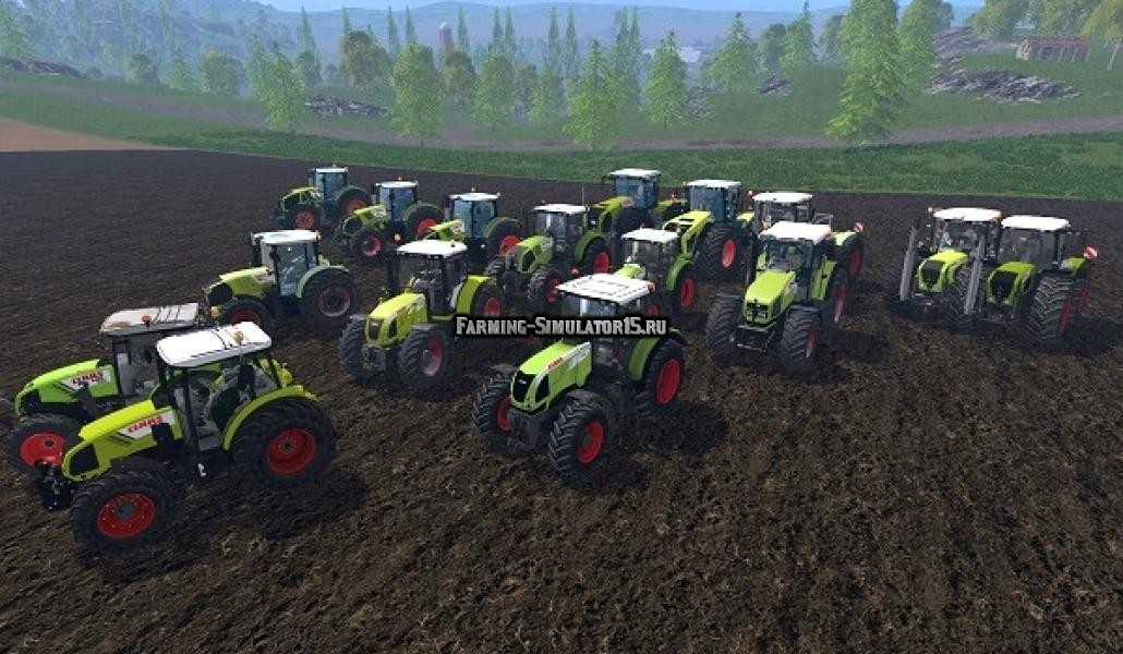 Мод ПАК тракторов Claas tractors pack Farming Simulator 2015