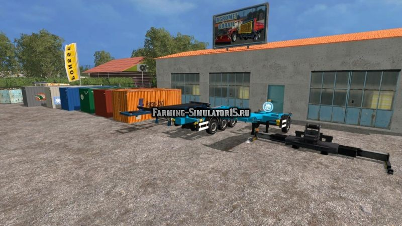 Мод ПАК контейнеров Container Pack by DRE3178 Farming Simulator 2015