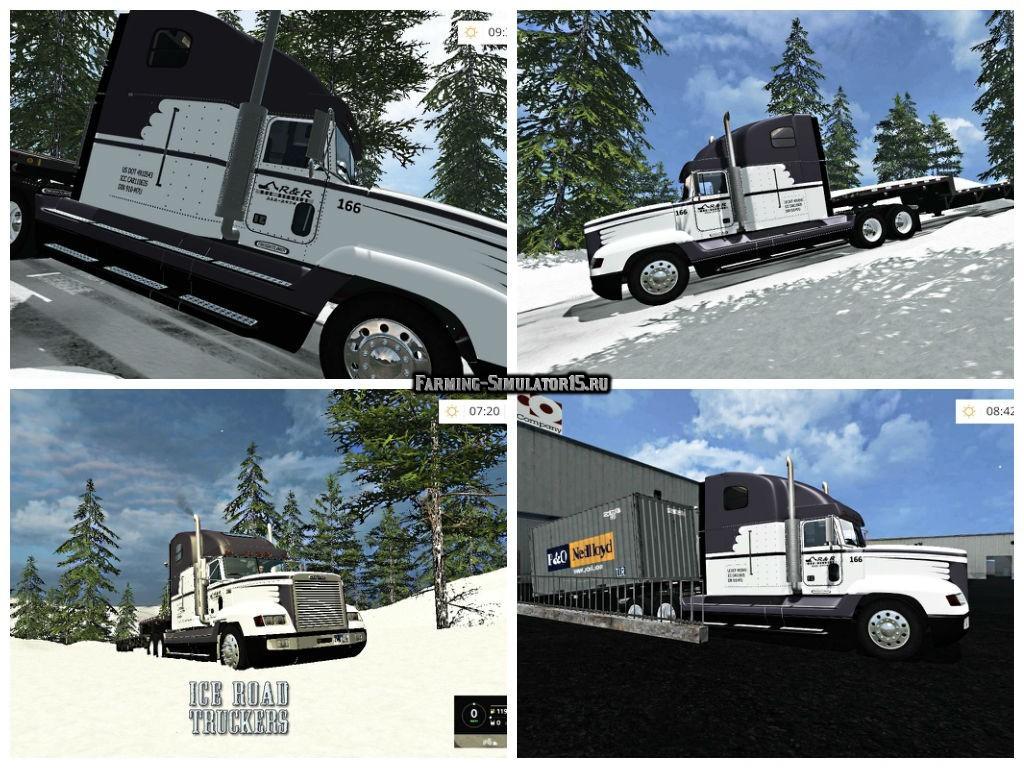 Мод грузовик Freightliner FLD 120 Farming Simulator 2015