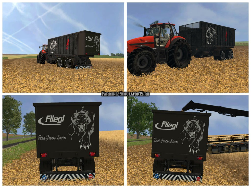 Мод прицеп FLIEGL TMK 266 BLACK PANTHER EDITION V1.0 Farming Simulator 15