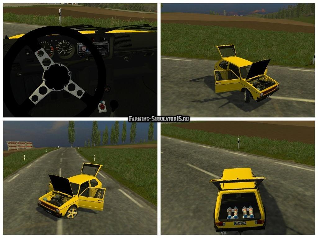 Мод авто VW Golf GTI Tuning v 1.3 Farming Simulator 15