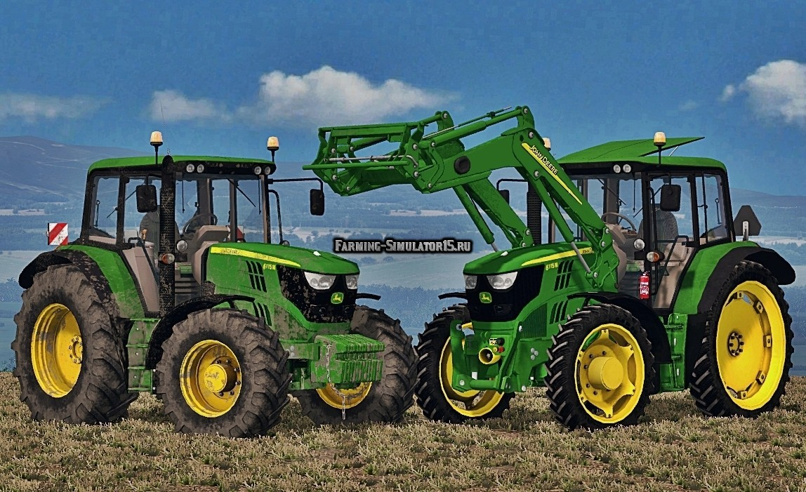 Мод трактора John Deere 6115M Washable v Final Farming Simulator 15
