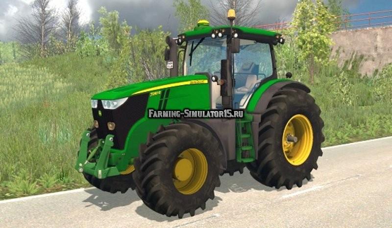 Мод трактор John Deere 7280R v 2.0 Farming Simulator 2015