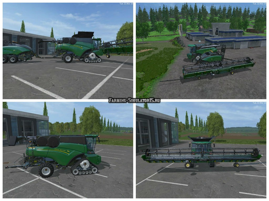 Мод ПАК John Deer Green NH Pack v 1.0 Farming Simulator 2015