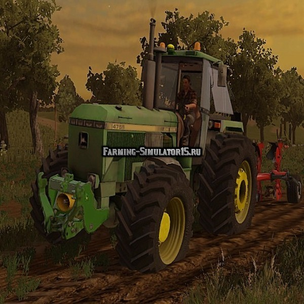 Мод трактор John Deere 4755 v 2.0 Farming Simulator 15