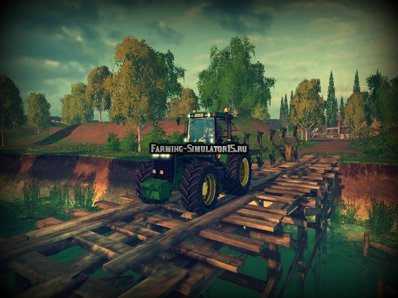 Мод трактор John Deere 8400 v 1.5 Farming Simulator 15