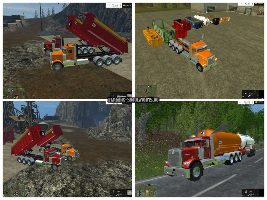 Мод грузовик Kenworth 900B Multilif v 1.1 Beta Farming Simulator 2015