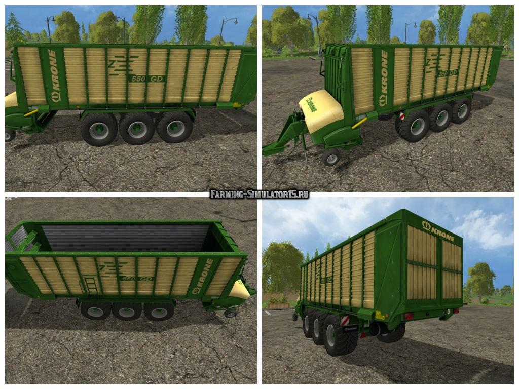 Мод прицеп Krone ZX 550 GD v 1.0 Farming Simulator 15