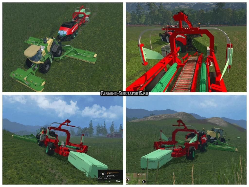 Мод обмотчик Kverneland green silage Package for square bales v 1.0 Farming Simulator 15