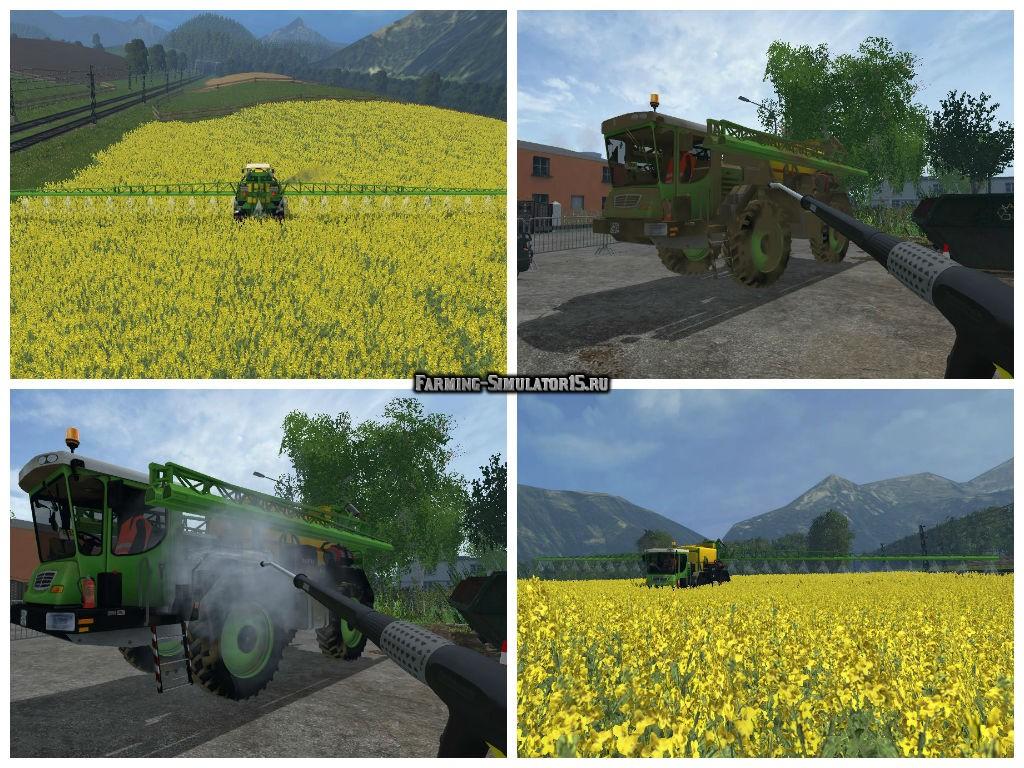 Мод опрыскиватель LIZARD SELF PROPELLED SPRAYER V1.0 Farming Simulator 15