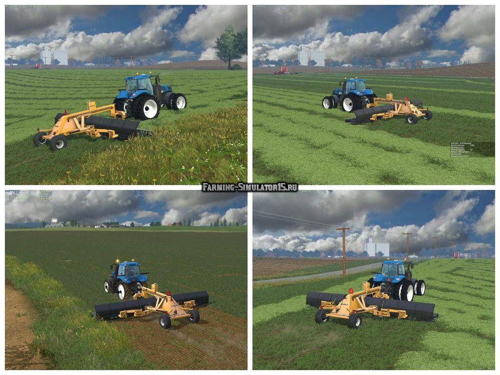 Мод Lindbejb Oxbo 334 Merger V 3.0.0.0 Farming Simulator 15