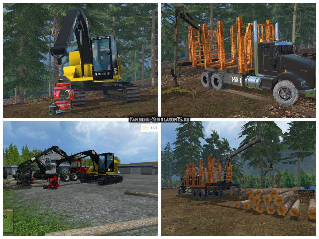 Мод ПАК Logging Pack v 2.0 Farming Simulator 15