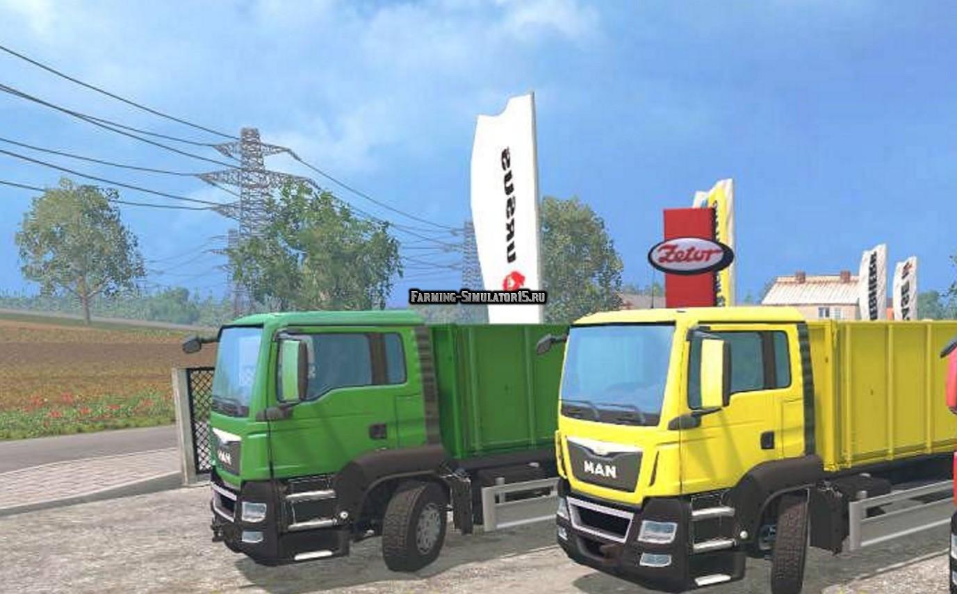 Мод грузовик MAN Grain Truck & Trailer v 1.0 Farming Simulator 2015