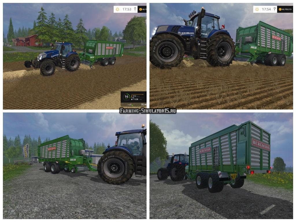 Мод прицеп Bergmann Carex 38S v2.0 Farming Simulator 15