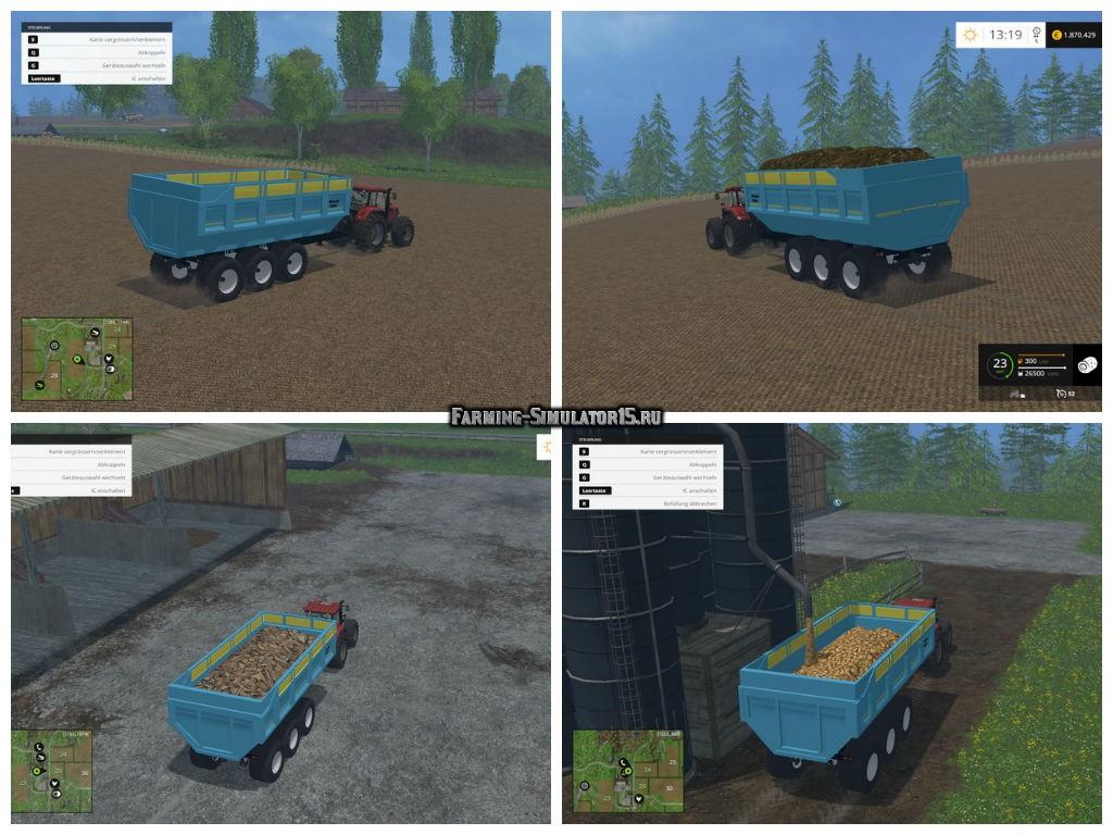 Мод прицеп Mengele Gigant v 1.0 Farming Simulator 15