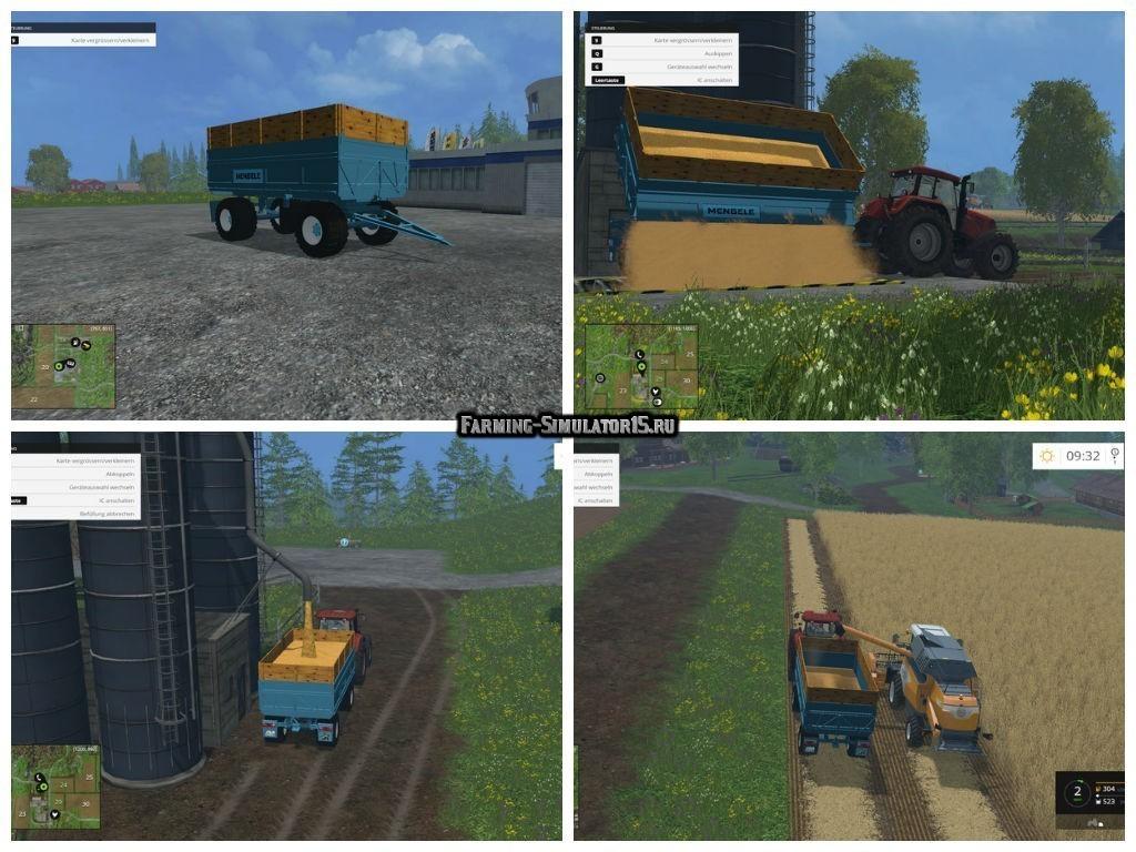 Мод прицеп Mengele HW80 v 1.0 Farming Simulator 2015