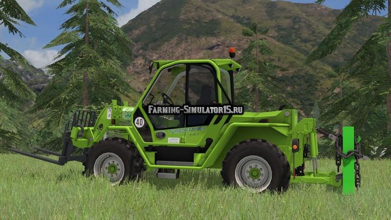 Мод погрузчик Merlo P417 Turbofarmer Rear Hydraulics v 4.0 Farming Simulator 2015