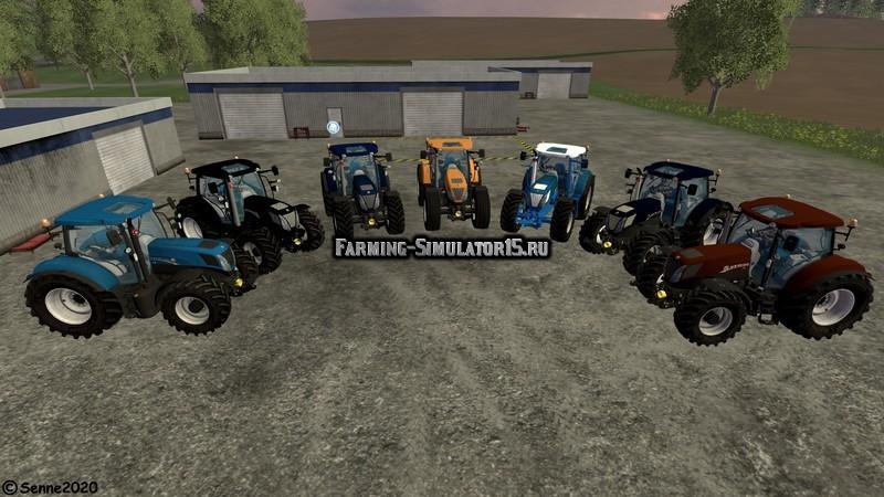 Мод ПАК тракторов New Holland T7 Pack v1.2 Farming Simulator 2015