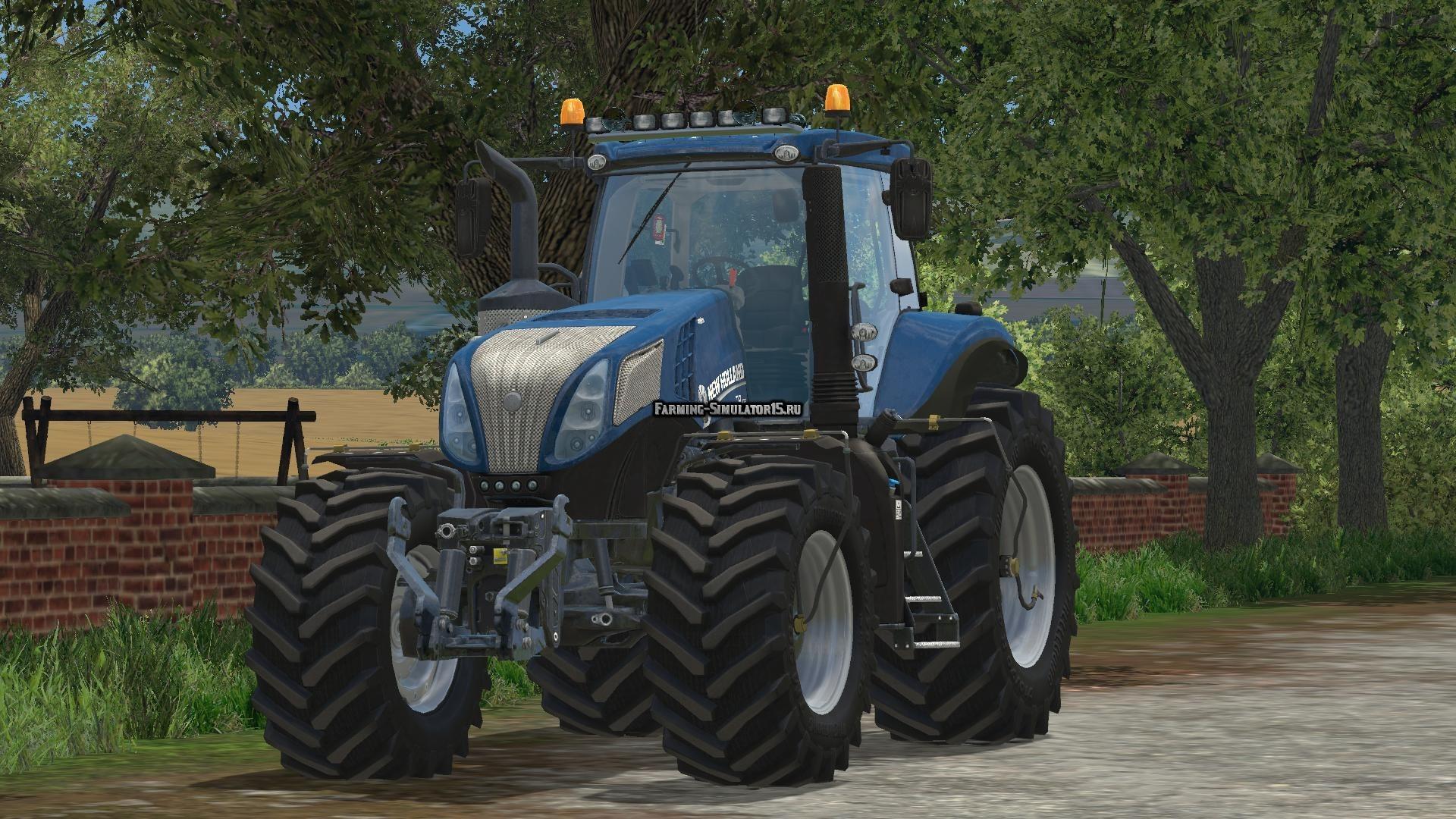 Мод трактор New Holland T8.420 Blue Power Farming Simulator 15