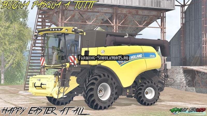 Мод комбайн New Holland CR9.90 40 Years Edition v 1.1 Farming Simulator 15