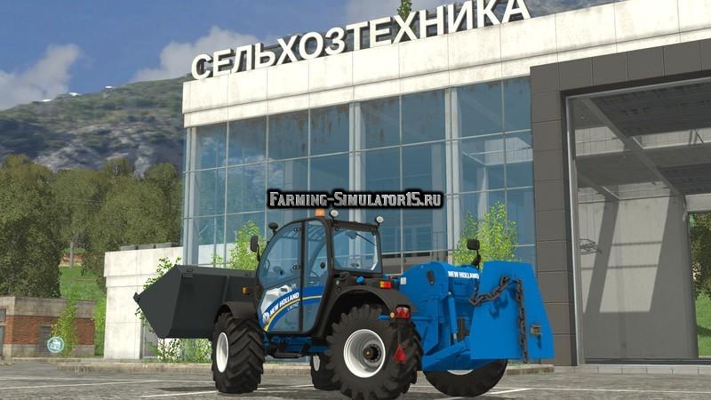 Мод погрузчик New Holland TL 7.42 with Rear Hydraulics v 1.0 Farming Simulator 2015