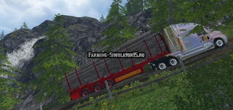 Мод прицеп PVLogrunner v 1.5 Автопогрузка Farming Simulator 2015