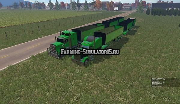 Мод грузовик Peterbilt 388, Kenworth T908 AUSTRALIA TRAILER MULTIFRUIT Farming Simulator 15