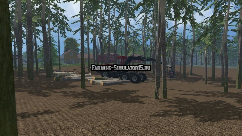 Мод Pine trees with marks v 0.3 Placeable Farming Simulator 2015