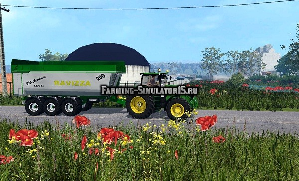 Мод прицеп Ravizza Millenium 7200 livrea JD0 Farming Simulator 15