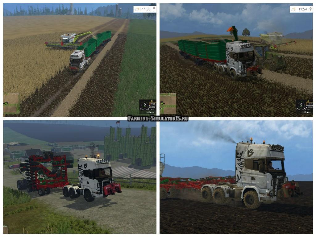 Мод грузовик Scania AgroTruck v 1.0 Farming Simulator 2015