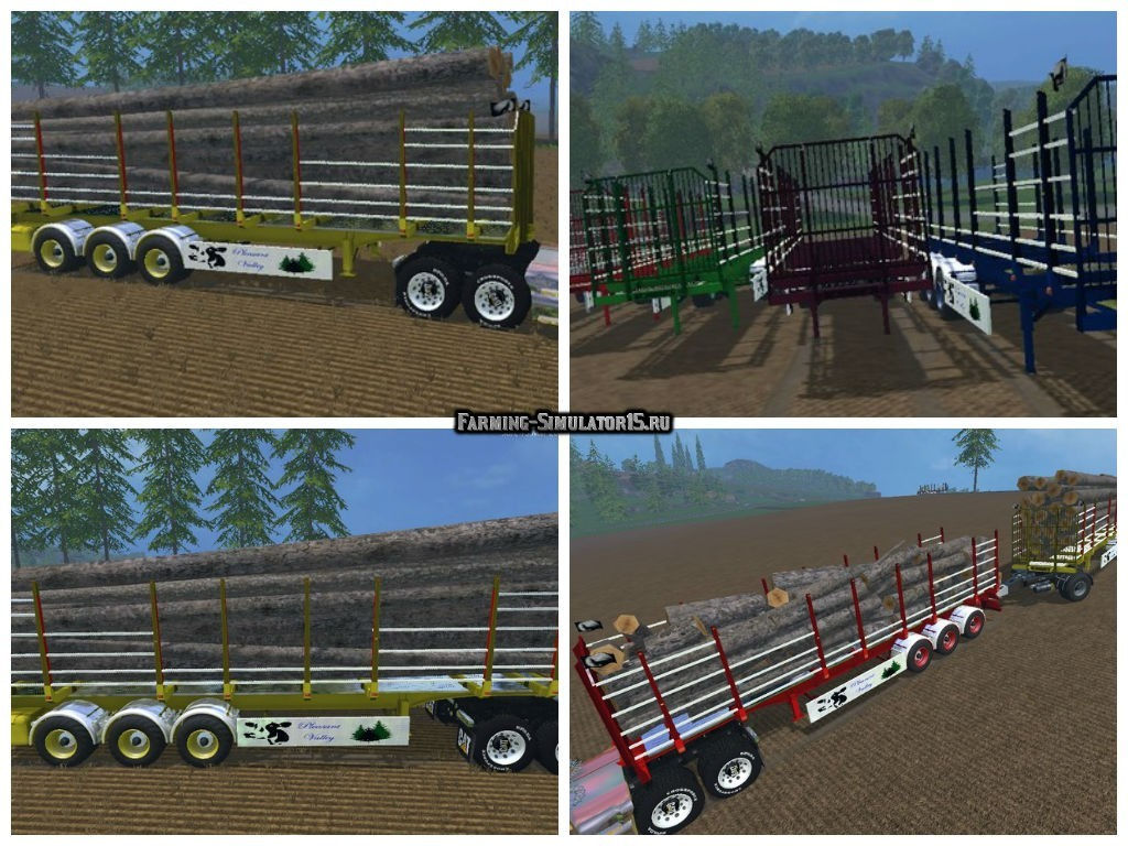 Мод прицеп StarLogger v 3.0 Автопогрузка Farming Simulator 15