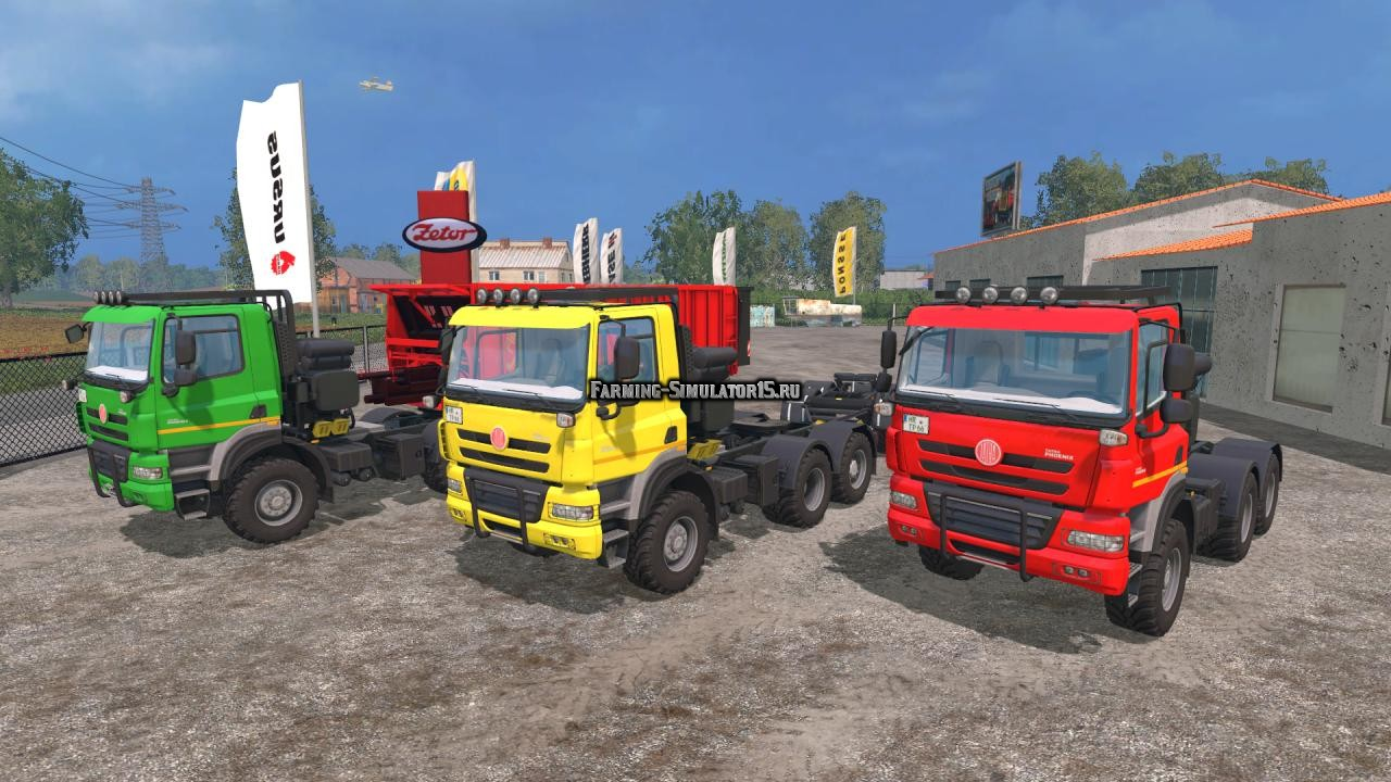 Мод грузовик Tatra Phoenix 6x6 Agro Truck + Trailer + Dolly Farming Simulator 15