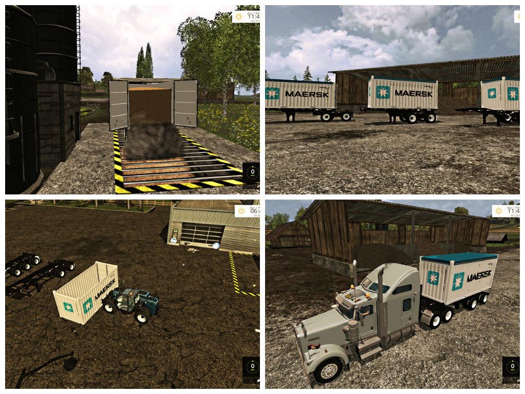 Мод контейнеры USA Container Pack Farming Simulator 2015