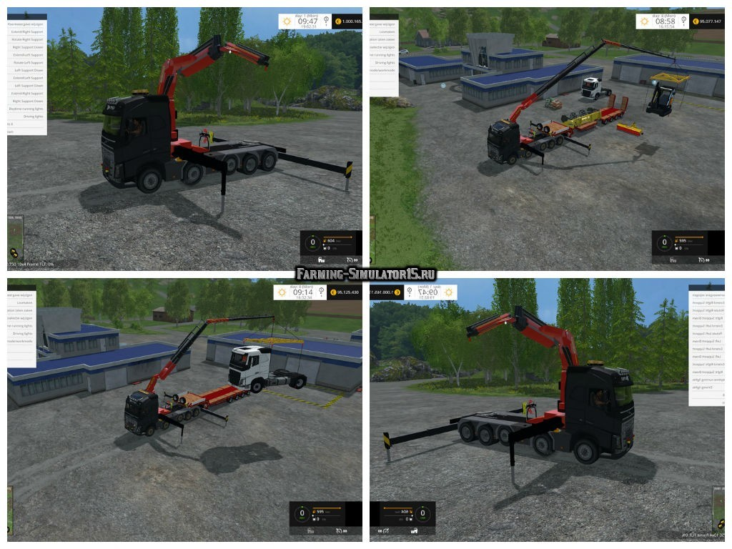 Мод кран VOLVO FH16 750 10X4 FRAME FLT SEMI V2.0 Farming Simulator 15