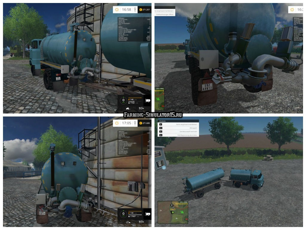 Мод грузовик IFA W50 Guelle & HW 80 Guelle Pack v 1.0 Farming Simulator 15