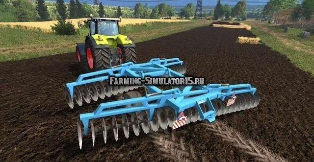 Мод культиватор Lemken disc harrow v1.0 Farming Simulator 2015