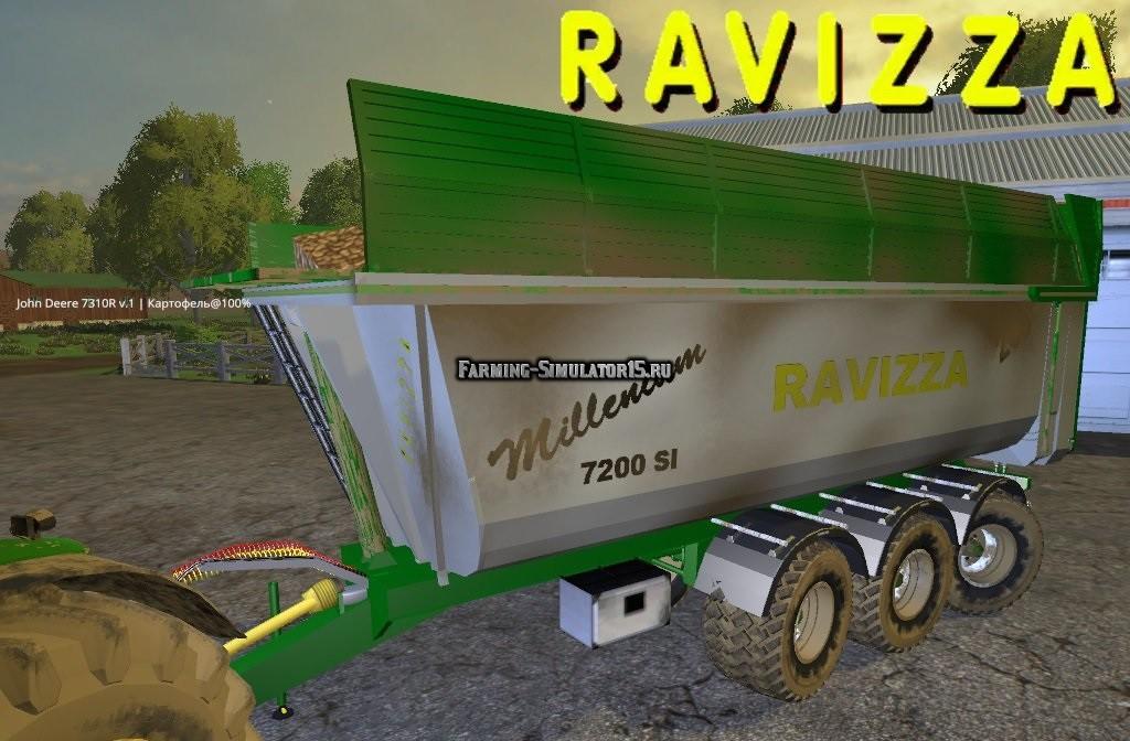 Мод прицеп Ravizza Millenium 7200 v1.0 Farming Simulator 2015