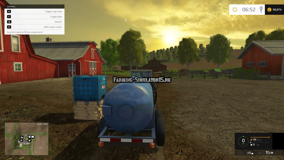 Мод бак IBC tank with water trigger v 1.0 Placeable Farming Simulator 2015