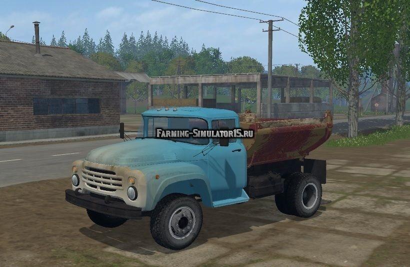 Мод грузовик ЗИЛ ZIL MMZ 555 v 1.0 Фарминг Симулятор 2015