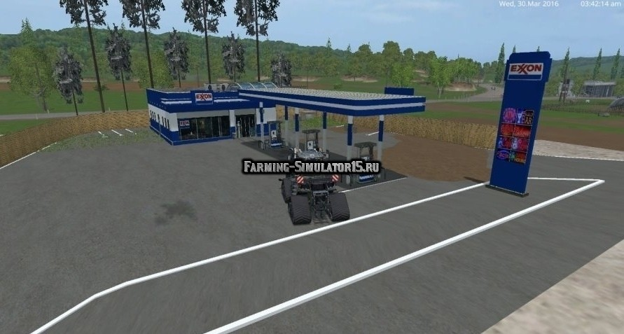Мод заправка Exxon Gas Station v1.0 Farming Simulator 2015