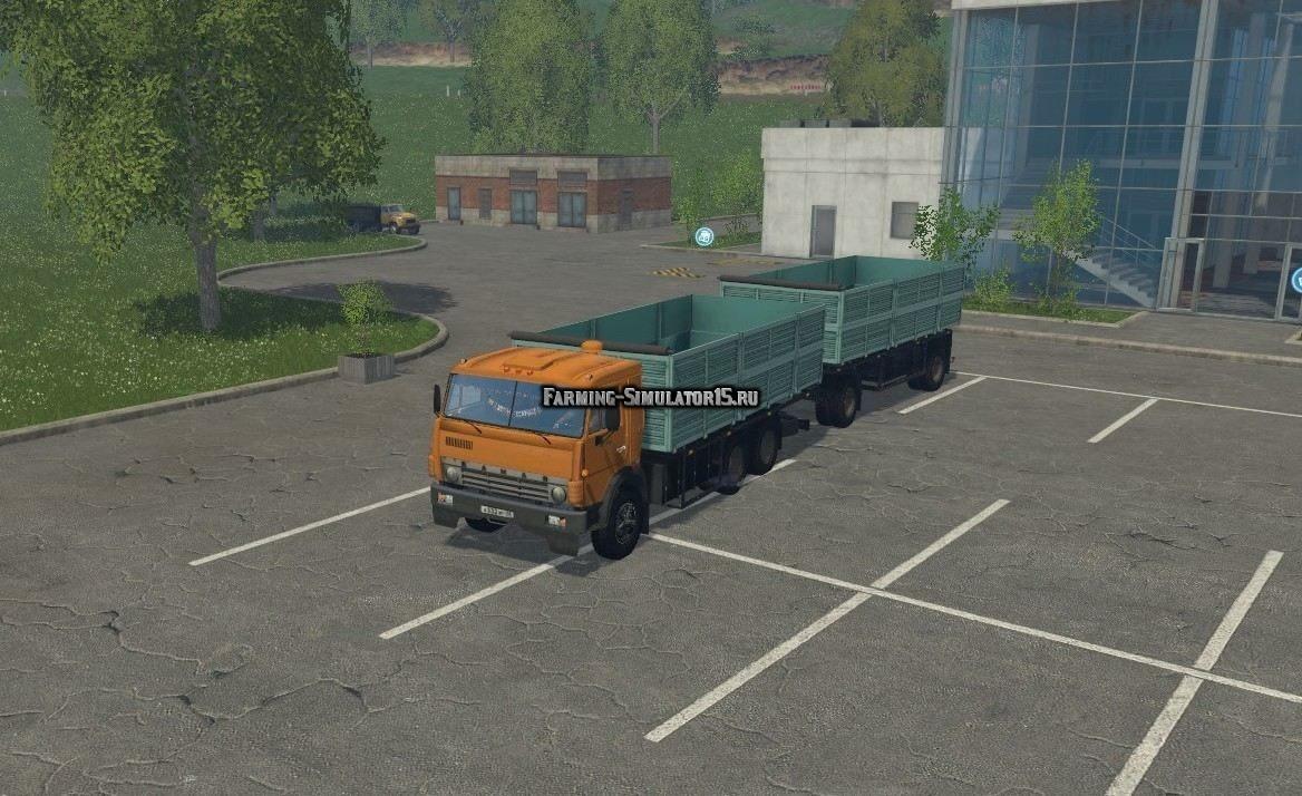 Мод грузовик Камаз Kamaz 55102 & GKB 8560 v 2.0 Фарминг Симулятор 2015
