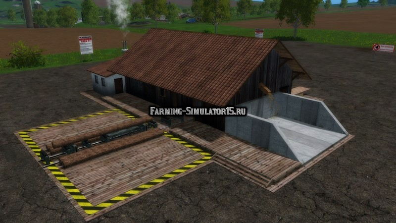 Мод лесопилка Farming Simulator 2015