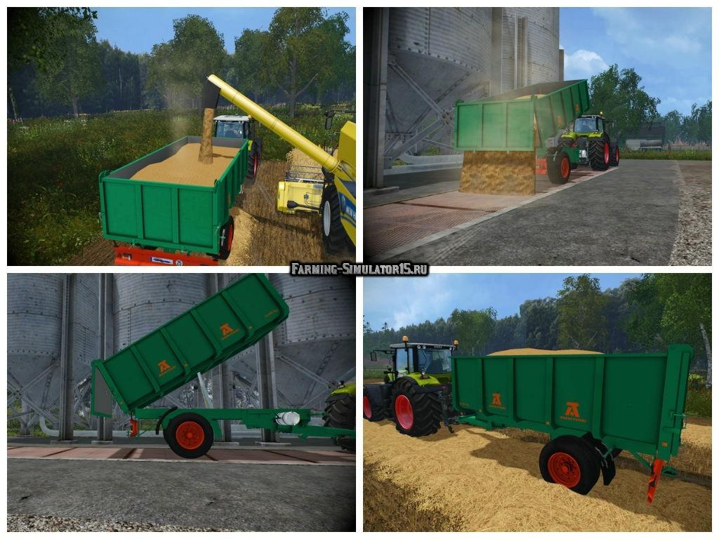 Мод прицеп Aguas Tenias 10T v 1.0 Farming Simulator 15