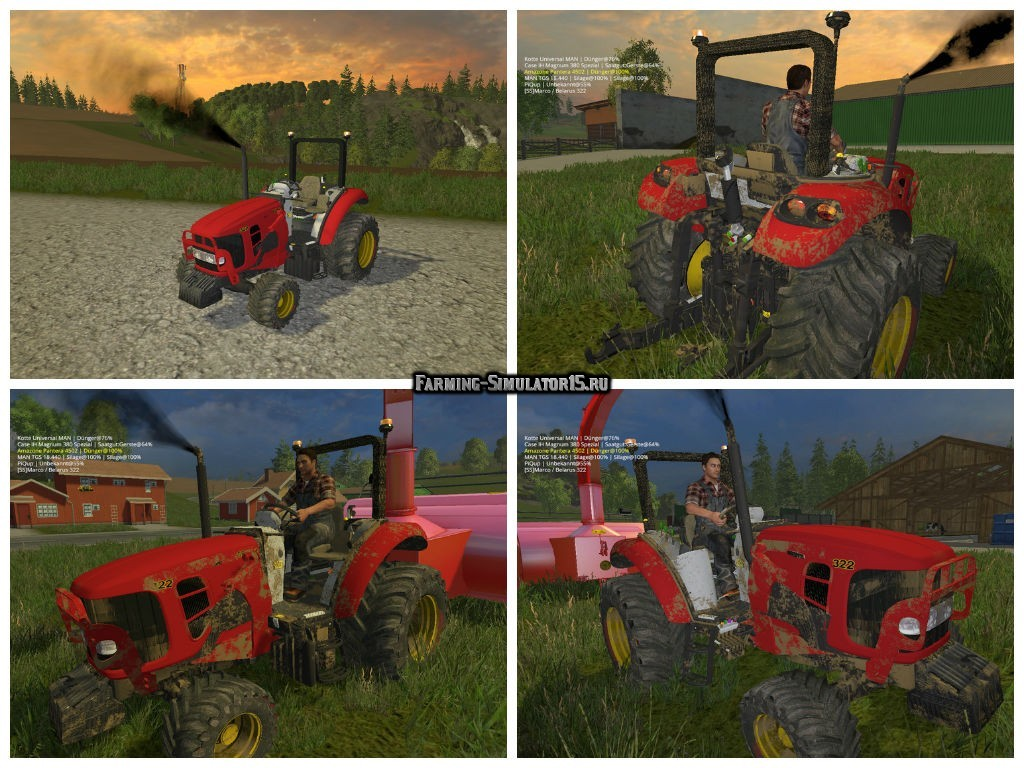 Мод трактор МТЗ Беларус Belarus 322 v 0.9 Beta Фермер Симулятор 2015