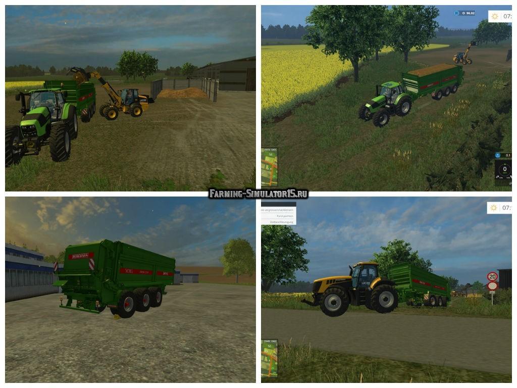 Мод прицеп Bergmann TSW 7340S v 1.0 Farming Simulator 2015
