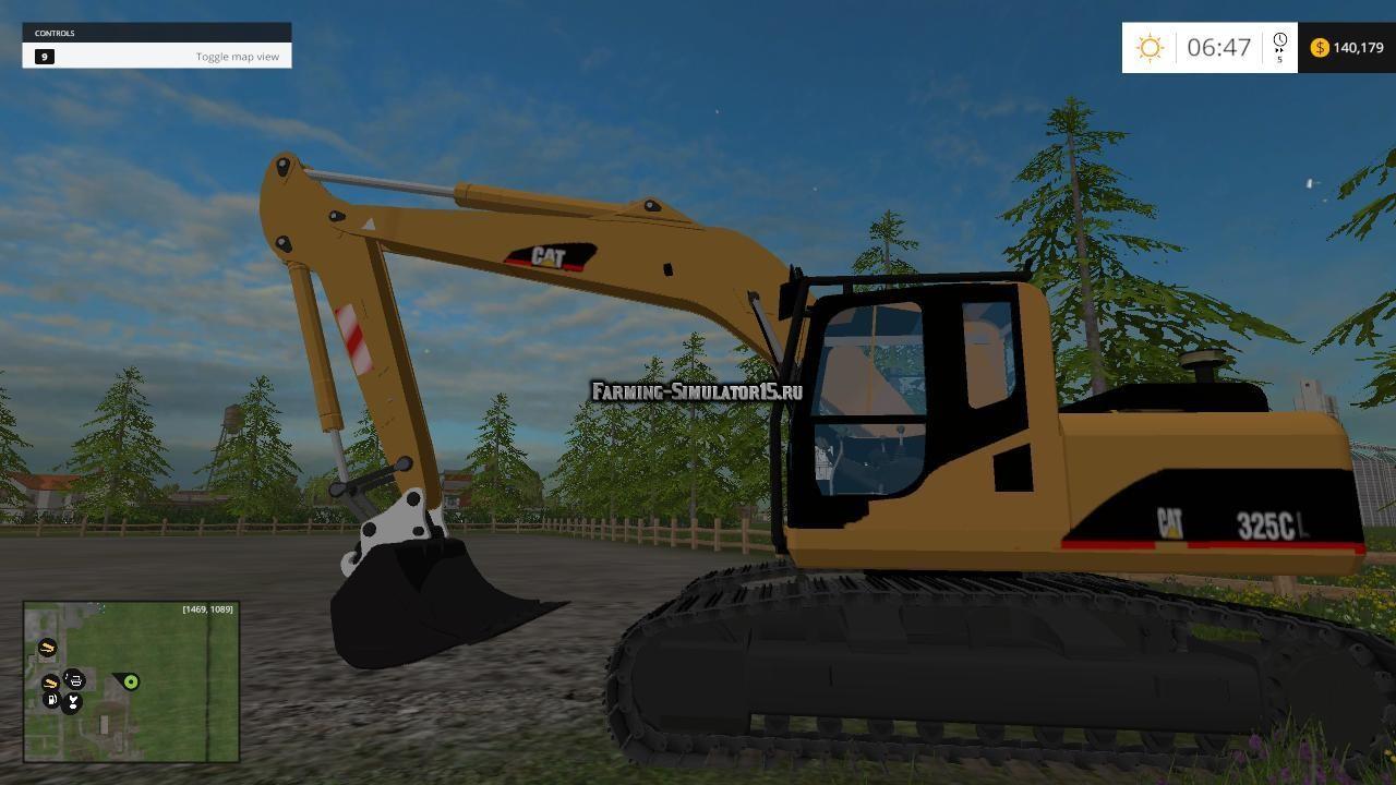 Мод погрузчик CAT 325C V 1.0 Farming Simulator 2015
