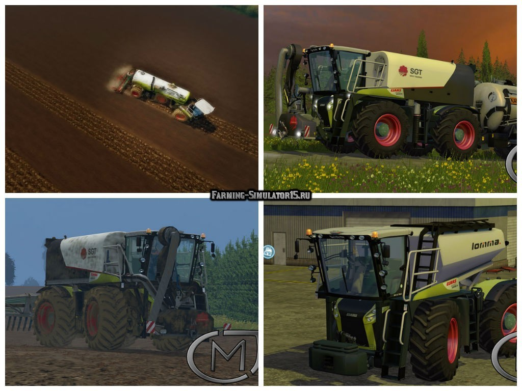 Мод трактор CLAAS Xerion 4000 SaddleTrac v 1.6 Farming Simulator 15