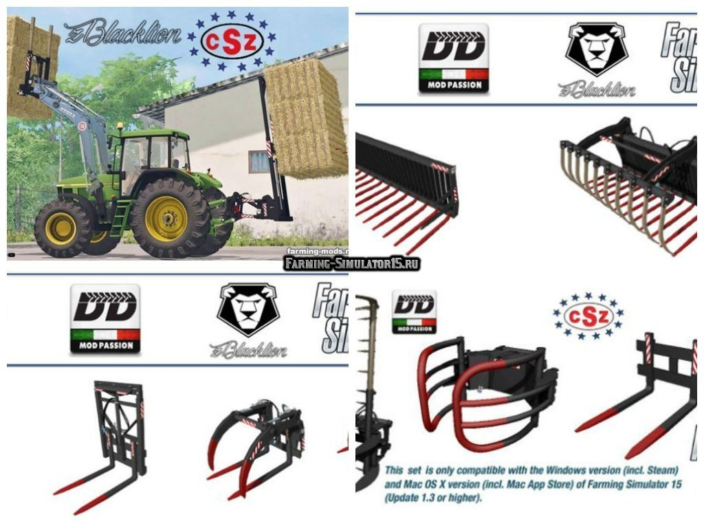 Мод CSZ set Pack v 5.0 Farming Simulator 15