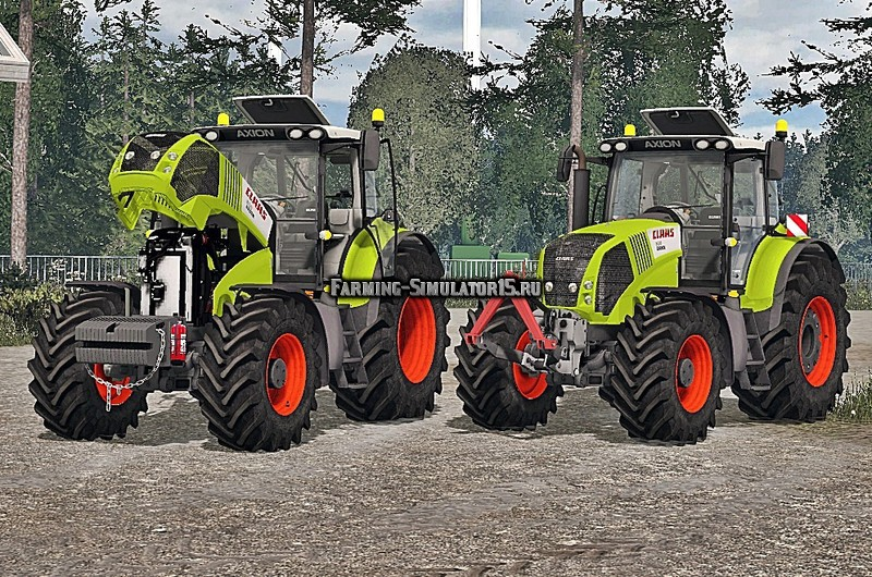 Мод трактор Claas Axion 850 FH & Weight Version v 1.0 Final Farming Simulator 15